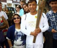 The Mittal family with Olympic 2012 torch