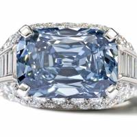 The unique blue shade of the diamond of this size is known to be rare hence the extra price of the stone
