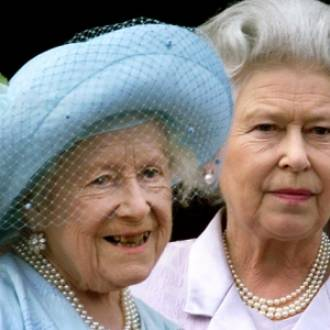 Queen Elizabeth II with her mother