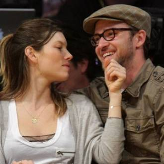 Justin Timberlake with lovely Jessica Biel