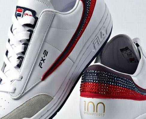 Swarovski studded FILA shoes