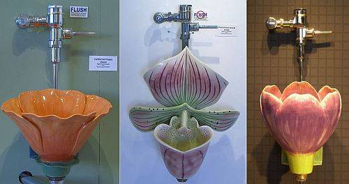 flower shaped urinals