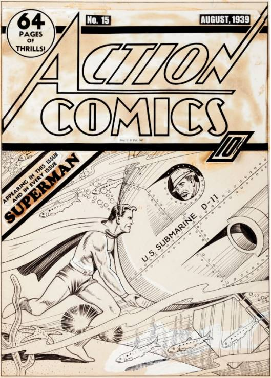 Superman Cover Original Art Sells for $286,800
