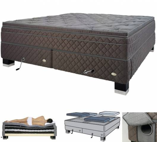 Duxiana luxury beds with lumbar support for a good night's sleep