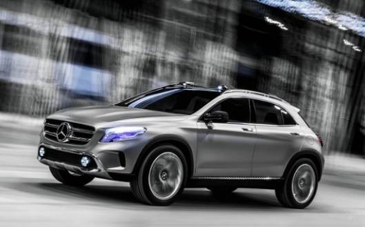 Mercedes-Benz GLA Concept SUV to sport laser projector headlamps