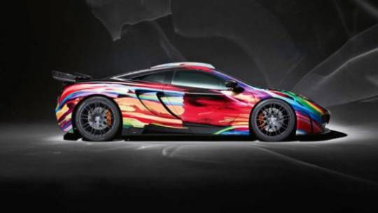 Hamann Motorsports McLaren MP4-12C with artistic multicolor coating sells for $122,000