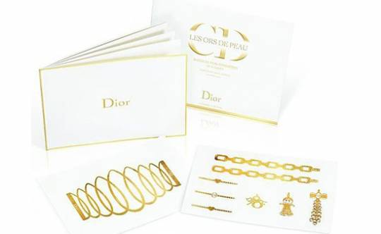 Dior Golden Tattoos