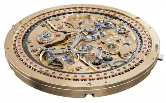 Harry Winston Opus XIII watch has the HW4101 movement which controls the variety of functions seen