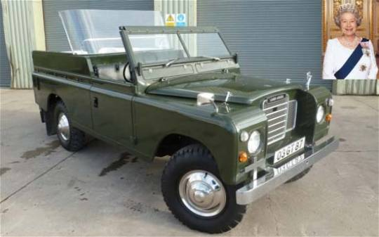 A 1978 Land Rover owned by Queen Elizabeth II is set to garner over $28,640 at the auction