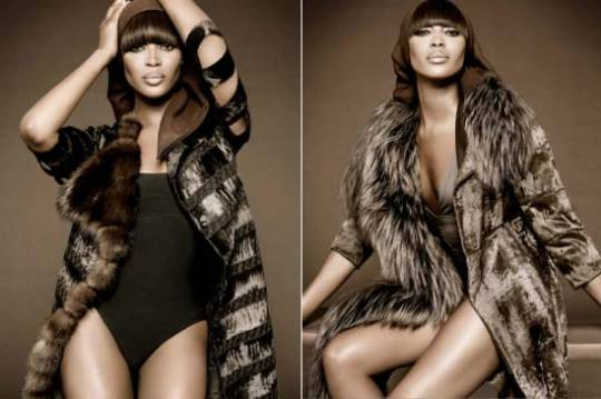 Dennis Basso 'Fur' Collection Naomi Campbell
