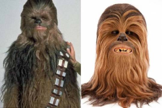 Hairy mask from Peter Mayhew's Chewbacca from Star Wars