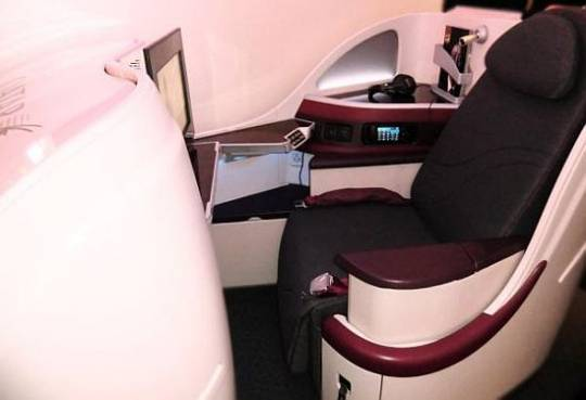 Qatar Airways Boeing B787 Business class seat