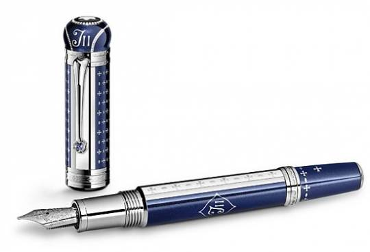 Montblanc Patron of the Art: Joseph II blue and white gold pen