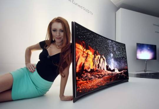 Samsung's World's First Curved OLED TV