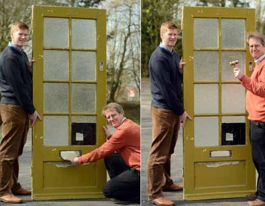 Sir Paul McCartney and the Liverpool home door, which is possession of Glen South