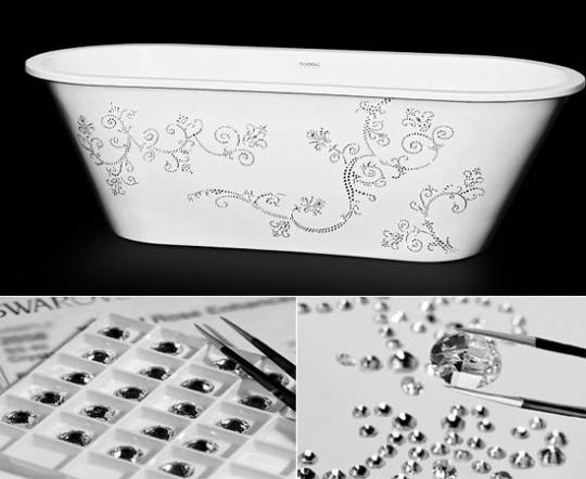 Sabbia creates bath studded with Swarovski crystals