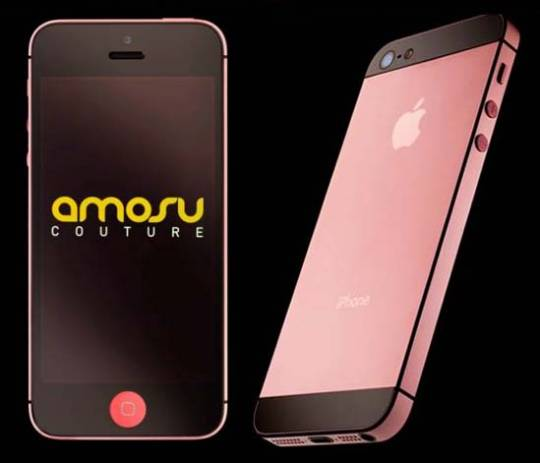 Amosu Couture's World's First Valentine Special Pink iPhone 5 is for the Wealthy in Love