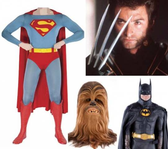 Hollywood's infamous costumes from the most recognizable characters on sale