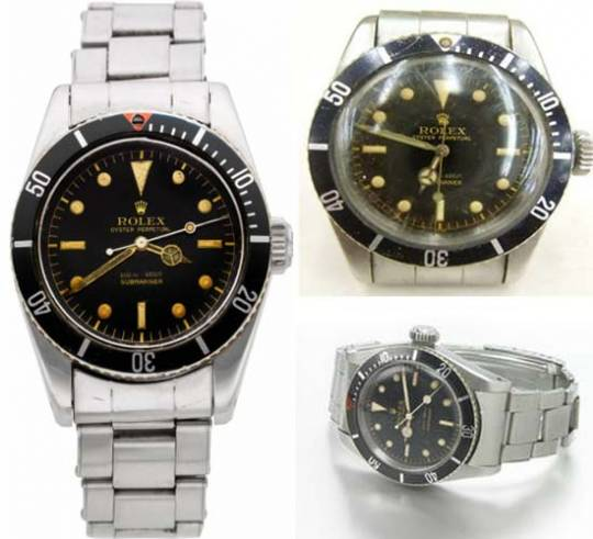 James Bond Rolex Submariner watches