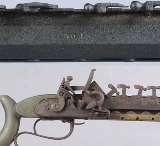 "12 shot repeating flintlock rifle with serial number ""No. 1"" goes for sale"