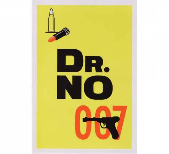 Dr. No special advance silkscreen U.K double crown poster from 1962