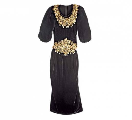 Dolce & Gabbana Black Velvet Dress