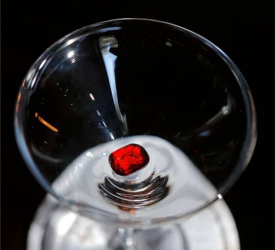 The Ruby Rose cocktail priced at $40,000 a glass features a 4-carat ruby in the drink