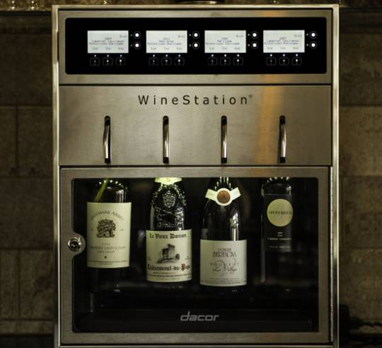 Dacor Discovery WineStation helps select the right wine and right quantity for perfect tasting
