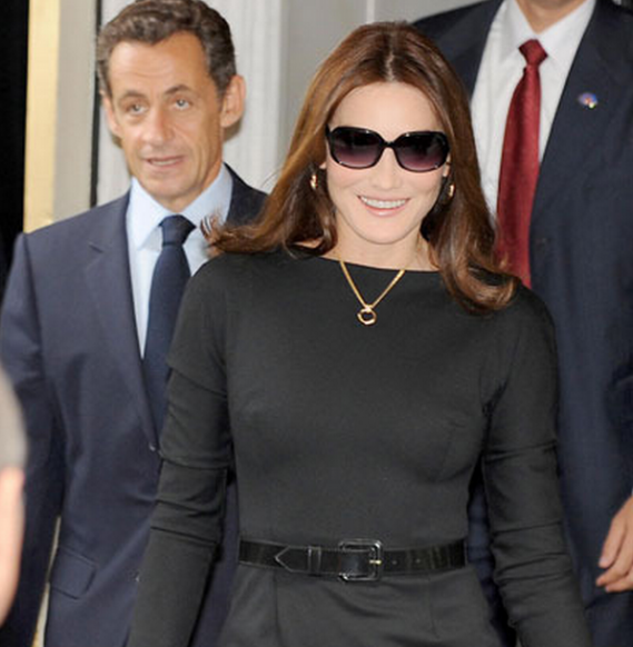 The former model and now the wife of the President of the French Republic Nicolas Sarkozy , loves wearing Miu Miu 14HS sunglasses