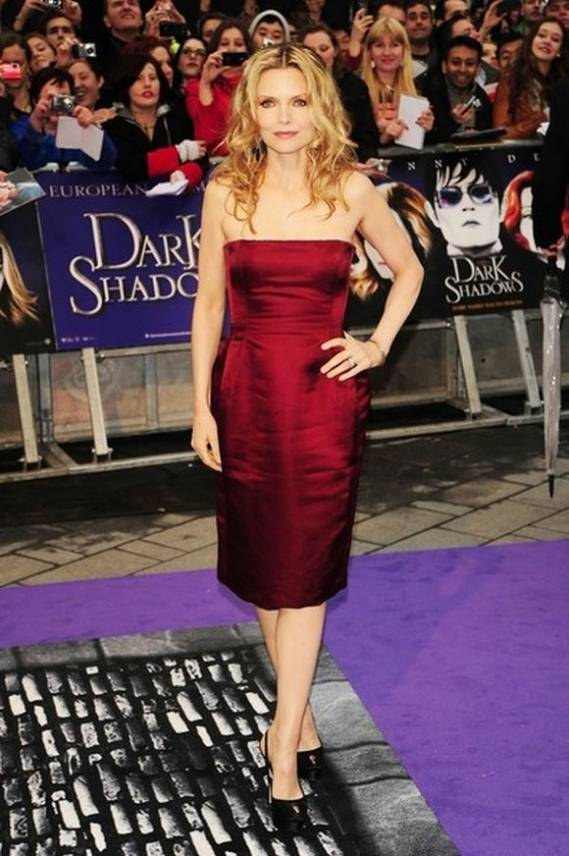 "Preiffer has a fascination for luxurious brands like Cathy Waterman earrings. She has flaunted them in the European Premiere of ""Dark Shadows"" in London on May 2012."
