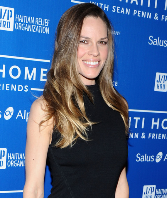 Hilary Swank at Cinema For Peace event benefitting J/P Haitian relief organization
