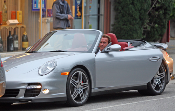 Arnold Schwarzenegger owns a number of Hummer but this Porsche 991 (997)