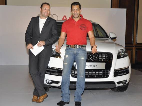 Salman Khan drives Audi Q7
