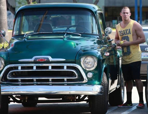 Channing drives Chevy truck Apache