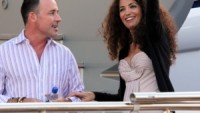 David Furnish & Afef Jnifen On Robert Cavalli's Yacht