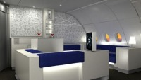 The celestial bar in Korean A380 aircraft In collaboration with Absolute vodka
