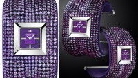 Swarovski's Elis Bangle Amethyst watch brings 'purple' back in Fall fashion trends