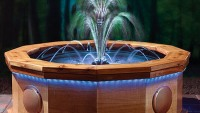 $7,000 Orchestral Fountain with built-in speakers & amp give a Vegas treatment to your backyard