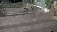Luxurious jetted tub