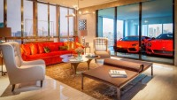 Singapore's Hamilton Scotts apartment owners can park their cars into their living rooms through biometrically controlled elevator