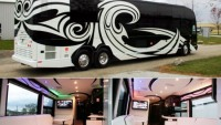Standard motor coach transformed into a luxurious rolling office