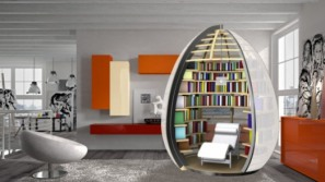 'NU-OVO' – A personal egg-shaped cocoon for book lovers