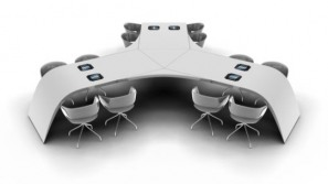 The iPad conference table is for the Silicon Valley geeks