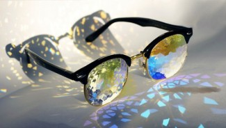 Holes kaleidoscope glasses from Pam Tietze is eyewear art