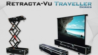 Vutech Retracta Vu Traveller Series is a projector lift on wheels