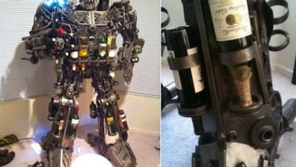 $7,000 Transformer wine rack belongs to a sci-fi home