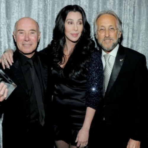 David Geffen with Neil Portnow