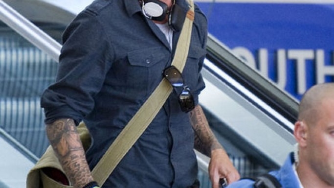Becks wearing Burberry