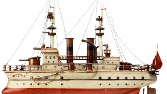 A toy battleship is the most expensive toy sold in Britain for $122,600