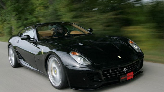Ferrari 599 GTB Fiorano car - Color: Black  // Description: glamorous